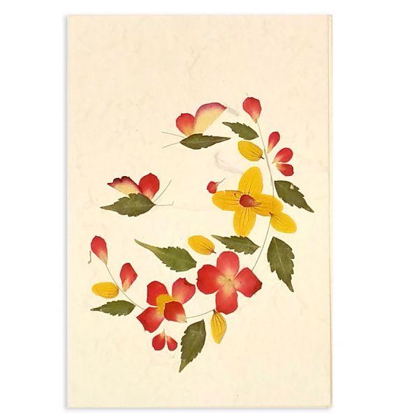SAA-Grusskarte mit echten Blüten | Motiv Nr. 50