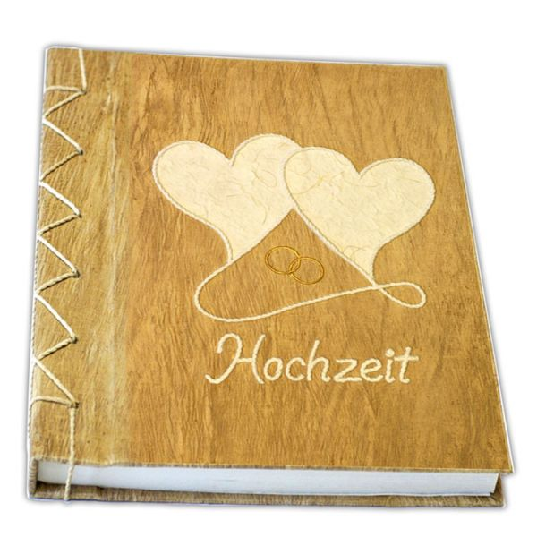 Hochzeits Gästebuch Nr. 14 - geschwungene Herzen