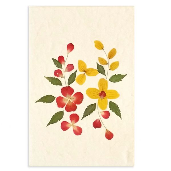 SAA-Grusskarte mit echten Blüten | Motiv Nr. 26