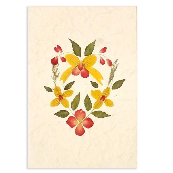 SAA-Grusskarte mit echten Blüten | Motiv Nr. 65