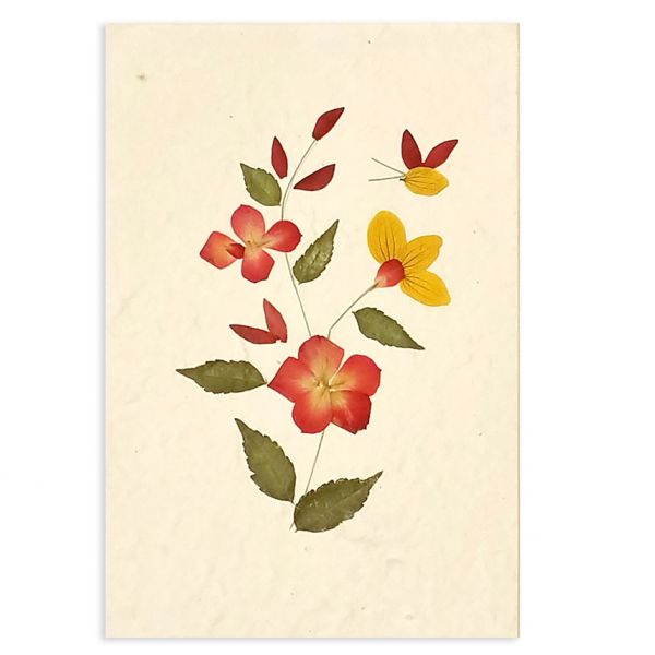 SAA-Grusskarte mit echten Blüten | Motiv Nr. 60