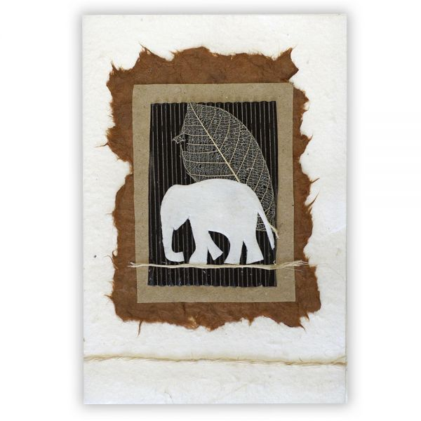 SAA Grußkarte | Elefant, braun