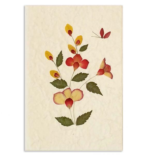 SAA-Grusskarte mit echten Blüten | Motiv Nr. 4
