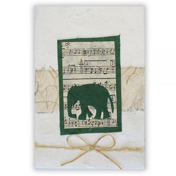 SAA Grußkarte | Elefant, grün