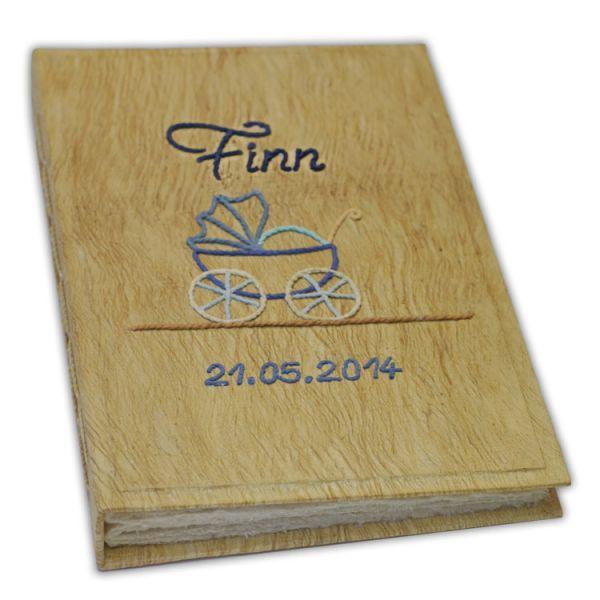 """Baby Fotoalbum mit Kinderwagen """"Finn"""""""