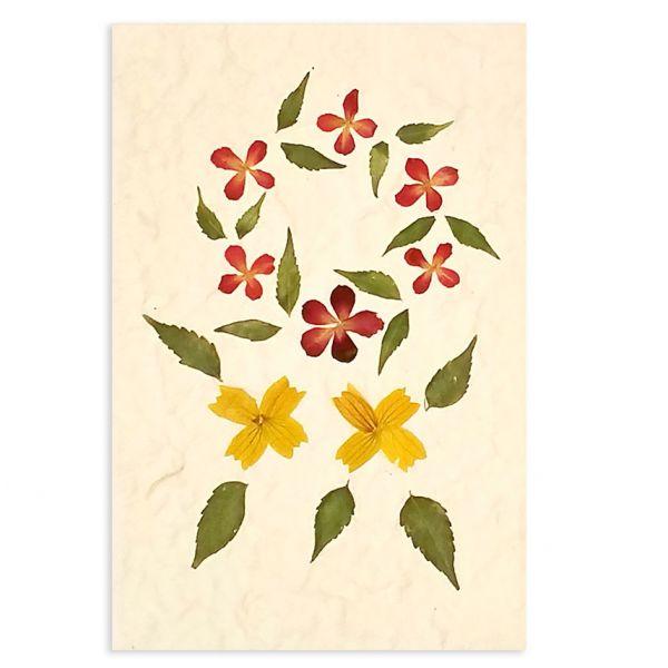 SAA-Grusskarte mit echten Blüten | Motiv Nr. 35