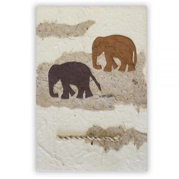 SAA Grußkarte | Elefanten, natur