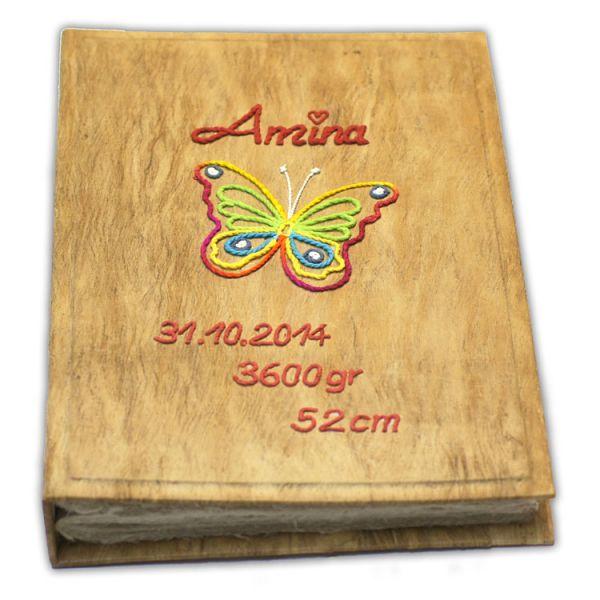 """Baby Fotoalbum mit Schmetterling """"Amina"""""""
