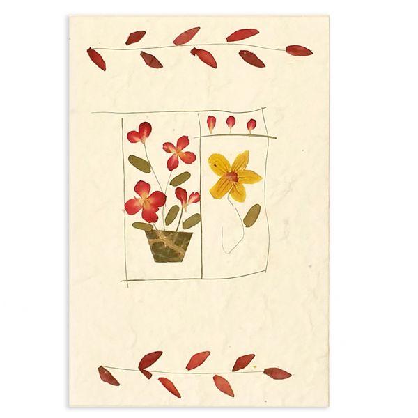 SAA-Grusskarte mit echten Blüten | Motiv Nr. 61