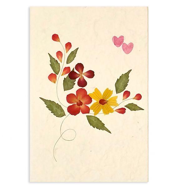 SAA-Grusskarte mit echten Blüten | Motiv Nr. 58