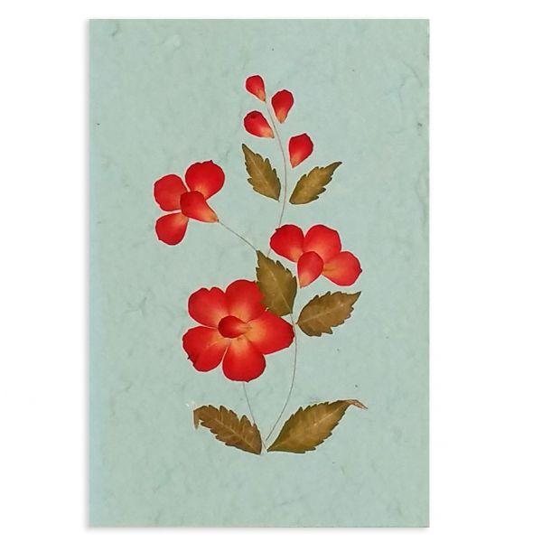 SAA-Grusskarte mit echten Blüten | Motiv Nr.15