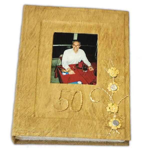 Geburtstags-Album mit Bild 10 x 13 cm und Jahreszahl