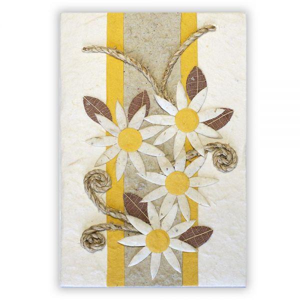 SAA Grußkarte | 5 Sternblüten mit Ornamentschleife