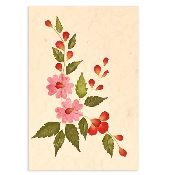 SAA-Grusskarte mit echten Blüten | Motiv Nr. 46