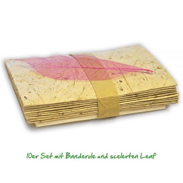 Briefpapier mit naturbelassenem SAA-Papier mit Kuvert.