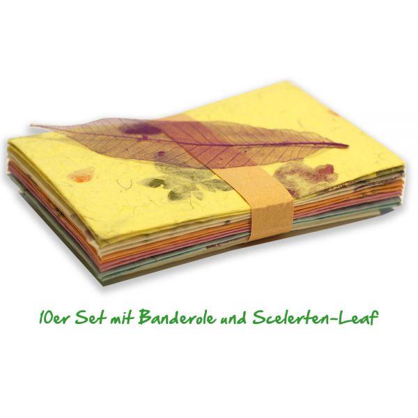 Briefpapier, bunt und mehrfarbig aus handgeschöpftem SAA-Papier.