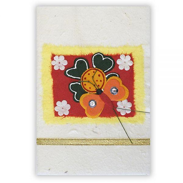 SAA Grußkarte | Glücksklee mit Herzen und Schmetterling 2