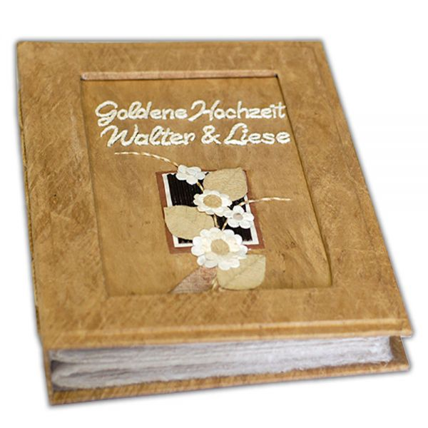 Goldene Hochzeit Fotoalbum mit Design und Namen