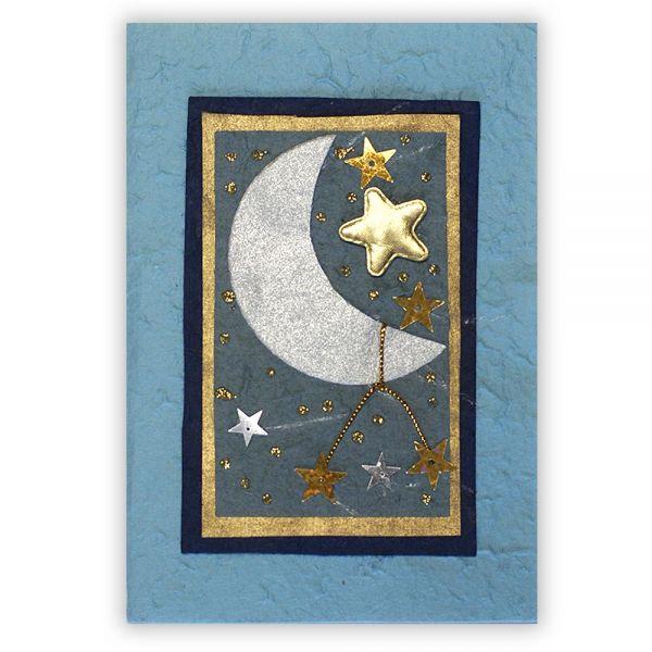 SAA Grußkarte | Sternenwelt mit Mond