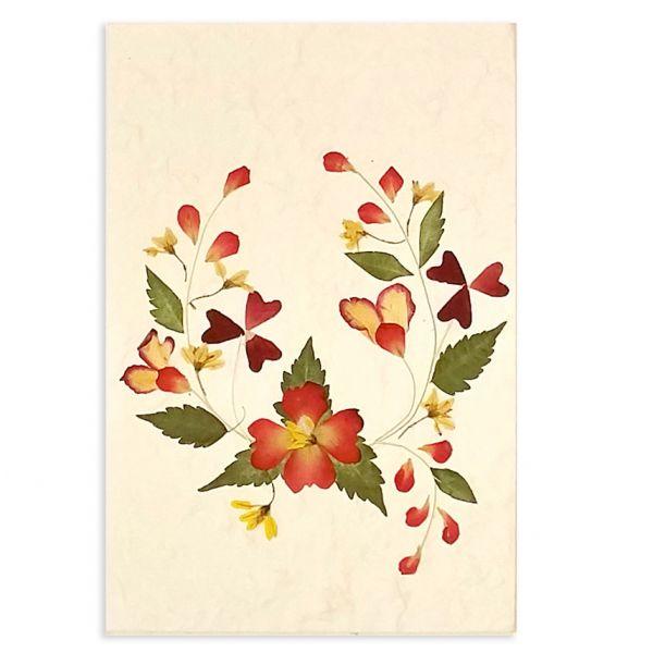 SAA-Grusskarte mit echten Blüten | Motiv Nr. 36