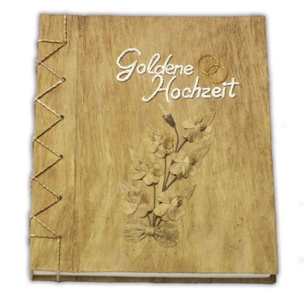 """Hochzeits Gästebuch Nr. 20 """" Goldene Hochzeit - Lebensranke"""""""