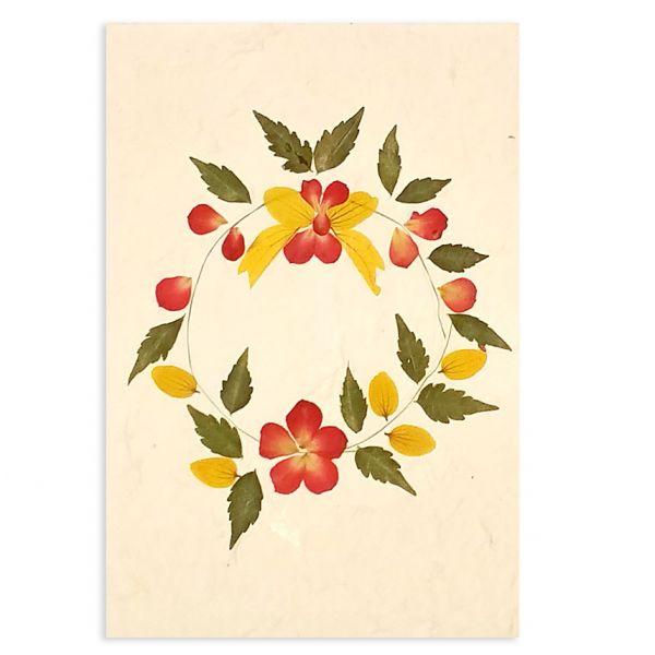 SAA-Grusskarte mit echten Blüten | Motiv Nr. 45