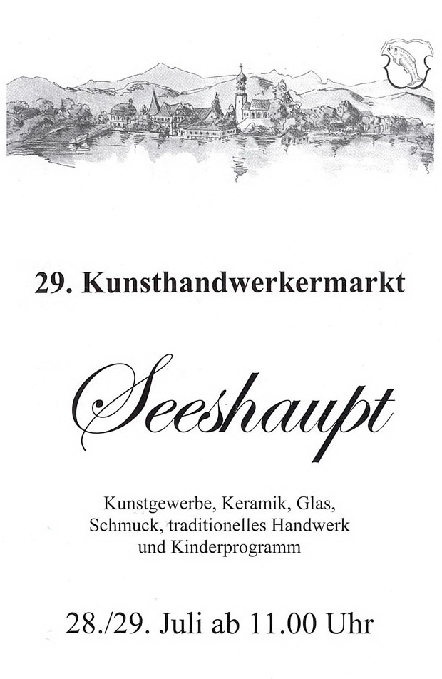 29 Kunsthandwerkermarkt In Seeshaupt Am 28 Und 29 Juli