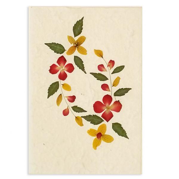 SAA-Grusskarte mit echten Blüten | Motiv Nr. 2