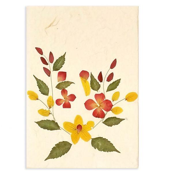 SAA-Grusskarte mit echten Blüten | Motiv Nr. 62