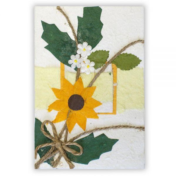 SAA Grußkarte | gelbe Blüte