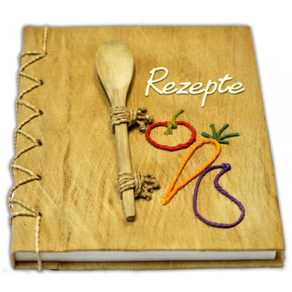 Rezepte Buch (weisse Schrift)