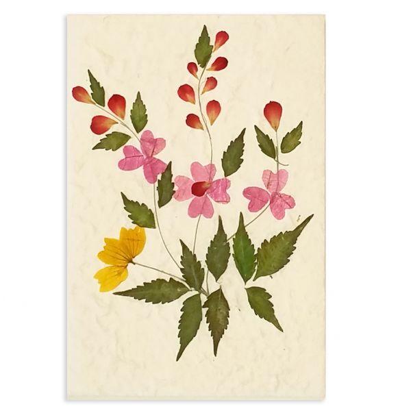 SAA-Grusskarte mit echten Blüten | Motiv Nr. 8