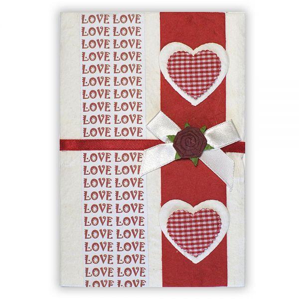 SAA Grußkarte | Herzen mit LOVE