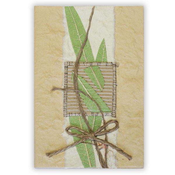 SAA Grußkarte | grüne Gräser