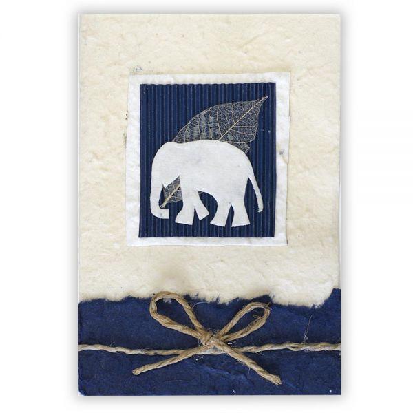 SAA Grußkarte | Elefant, blau