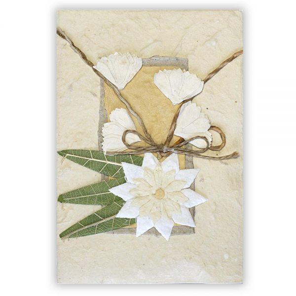 SAA Grußkarte | große Blüte mit 3 Gräser