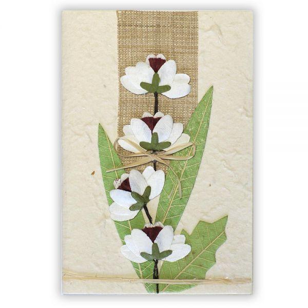 SAA Grußkarte | 4 Blüten mit Gräser