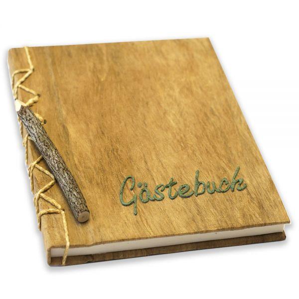 Gästebuch, grüne Aufschrift.
