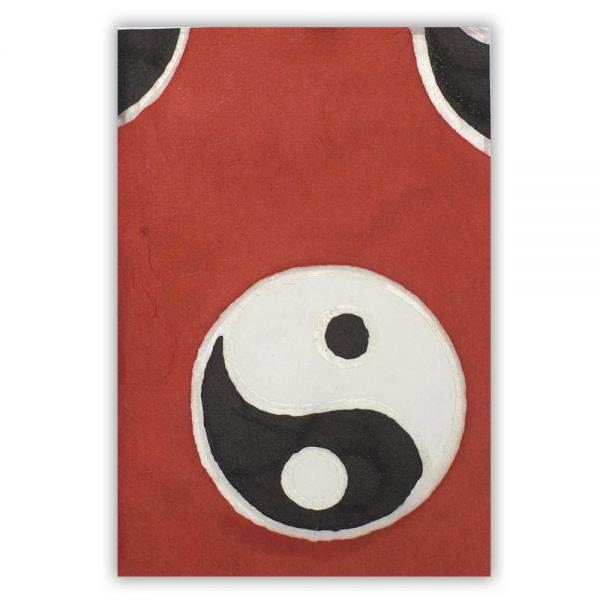 SAA Grußkarte | Yin-Yang auf rotem Grund