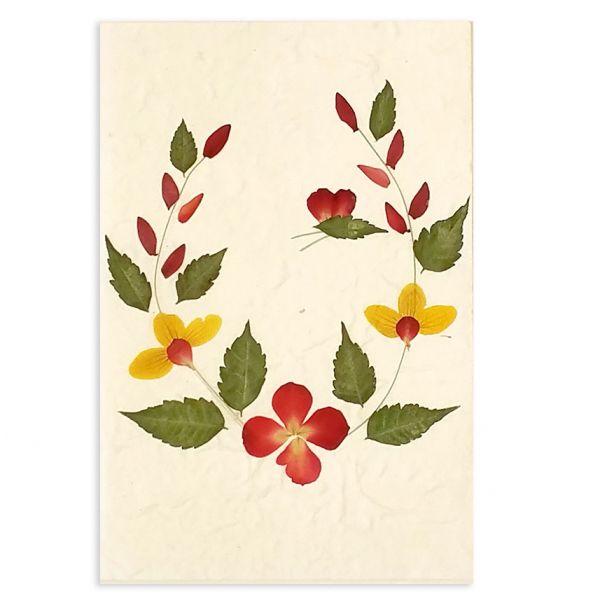 SAA-Grusskarte mit echten Blüten | Motiv Nr. 27