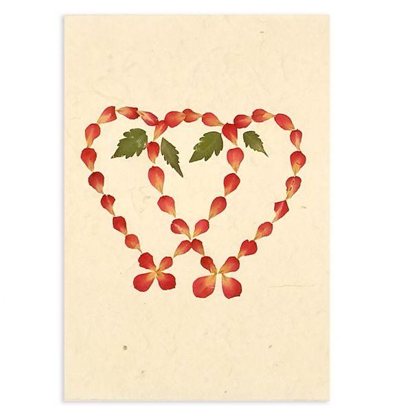 SAA-Grusskarte mit echten Blüten | Motiv Nr. 33