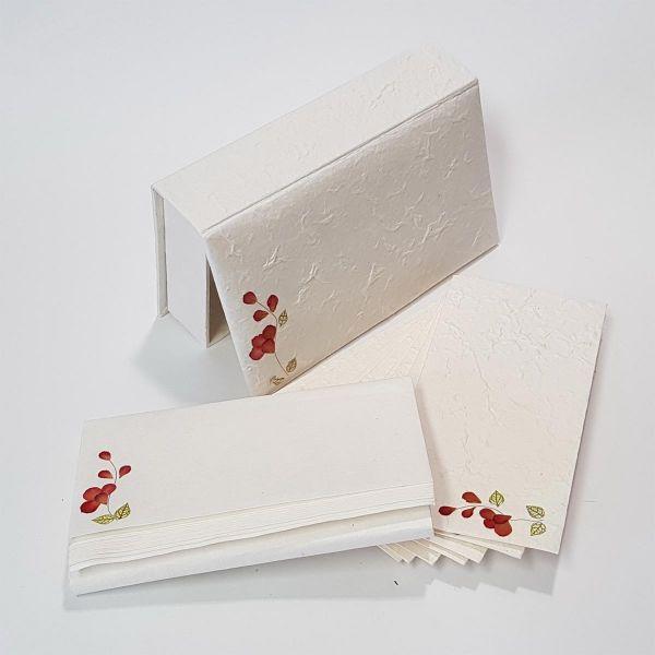 Briefpapier Box-Set mit Flowerdesign