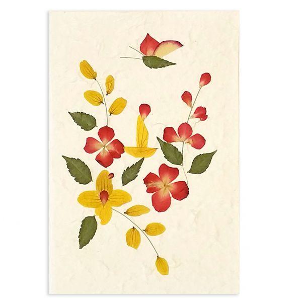 SAA-Grusskarte mit echten Blüten | Motiv Nr. 30