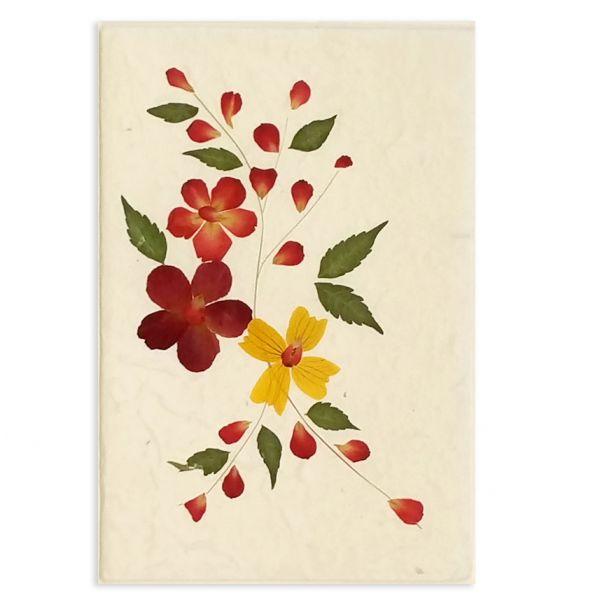 SAA-Grusskarte mit echten Blüten | Motiv Nr. 3