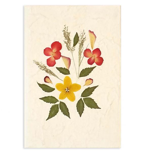 SAA-Grusskarte mit echten Blüten | Motiv Nr. 29