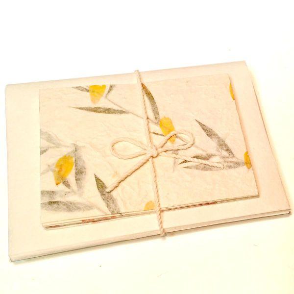 Briefpapier Set, Blütenpapier DinA6 (10 Blüten-Kuvert + 10 Blatt SAA-Papier)