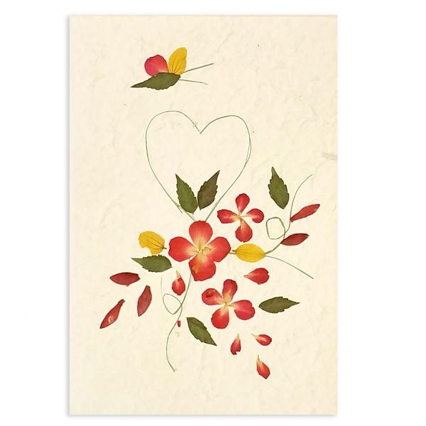 SAA-Grusskarte mit echten Blüten | Motiv Nr. 53