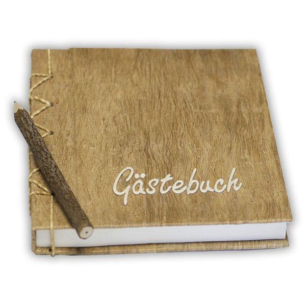 Gästebuch ~ helle Schrift 23 x 23 cm