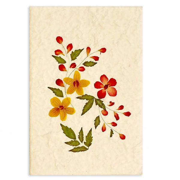 SAA-Grusskarte mit echten Blüten | Motiv Nr. 1